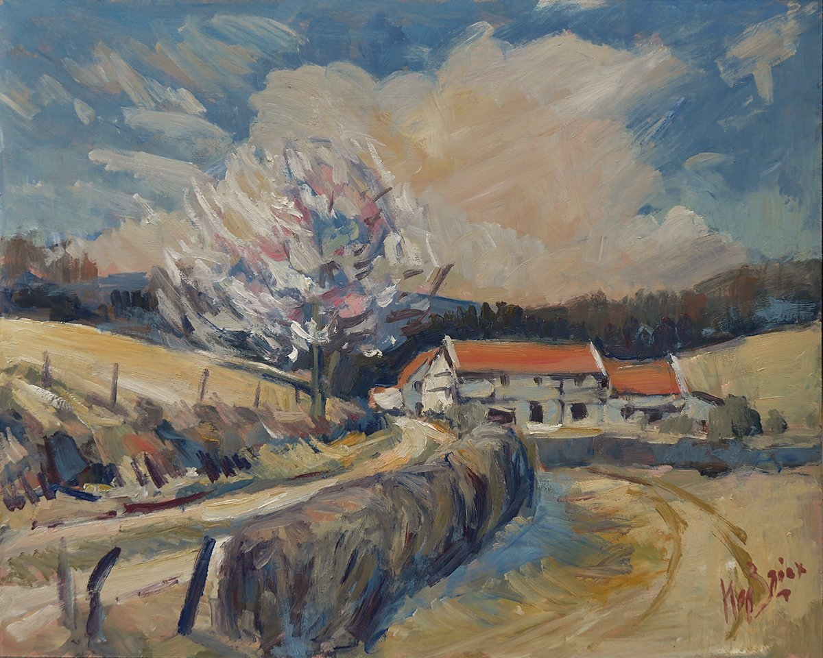 Cottages near Mechelen 50x40cm oilhb LR