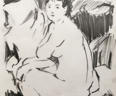 Renoir Anna or naked on sofa 1876 Briex LR
