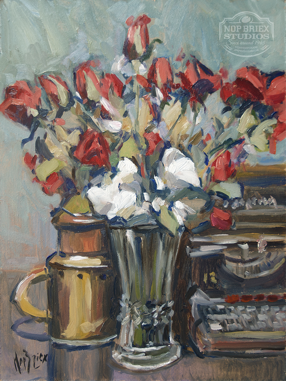 remington 12 painting roses still life
