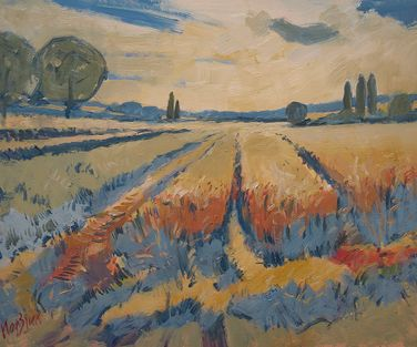 Wheat and Barley Zuid Limburg 50x40cm oil masonite LR